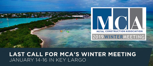 Last Call For MCA's Winter Meeting