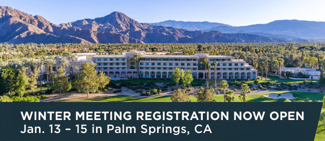 Winter Meeting Registration Now Open